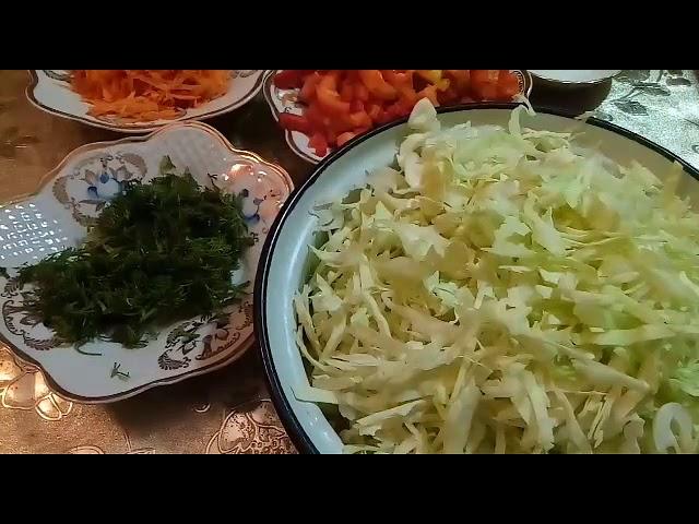 Витаминный салат «Дары осени».