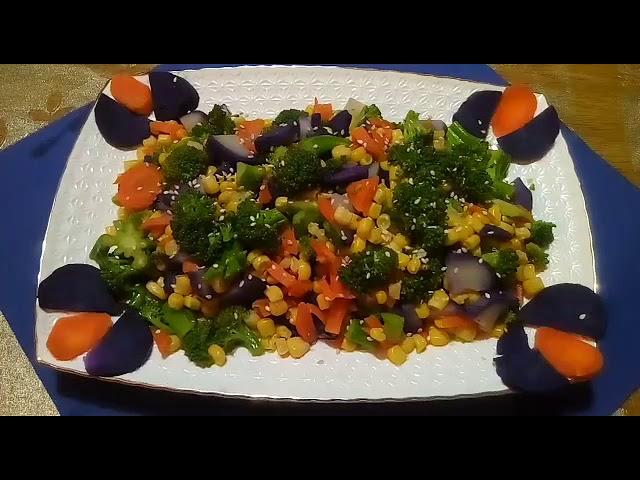 Праздничный салат из БРОККОЛИ без майонеза.Быстро,вкусно,полезно.