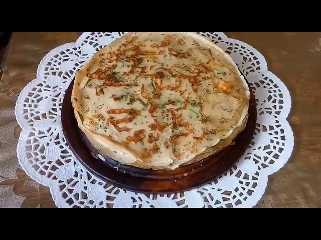 Вкуснющие блины с сыром и зеленью!!!