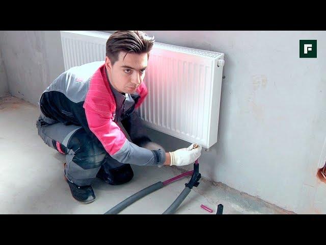 Способы подключения радиаторов из пола // FORUMHOUSE