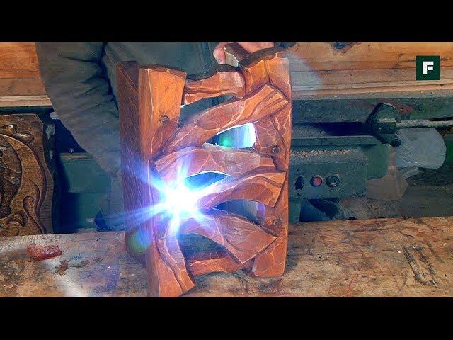 Изготовление деревянного плафона. Строительные лайфхаки // FORUMHOUSE